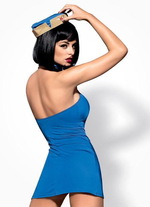 Obsessive kostium stewardessy niebiesko-beżowy (Air Hostess)