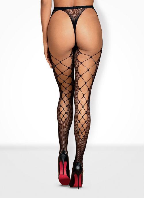 Obsessive garter stockings czarne (S233)