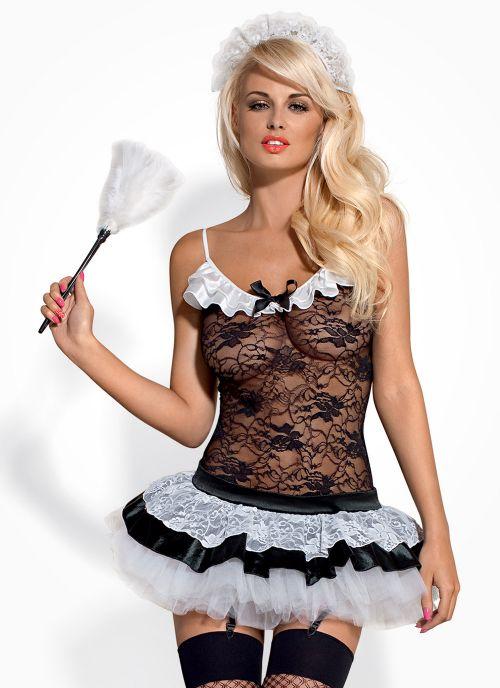 Obsessive kostium pokojówki czarno-biały (Housemaid)