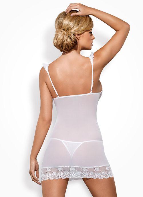 Obsessive koszulka i stringi biała (Julitta)