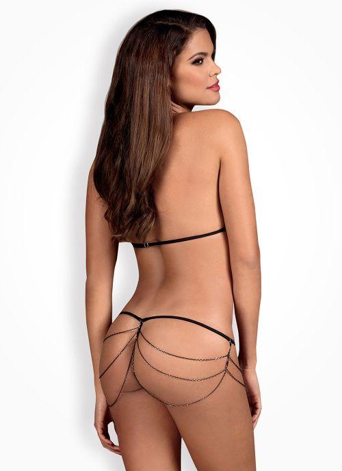 Obsessive komplet: biustonosz i stringi czarny (Redella)