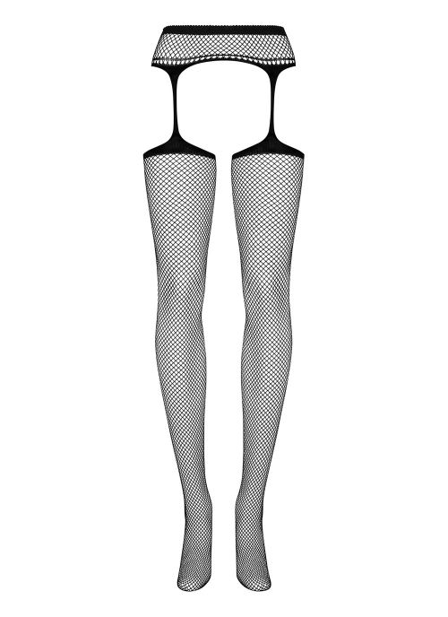 Obsessive garter stockings czarne (S501)