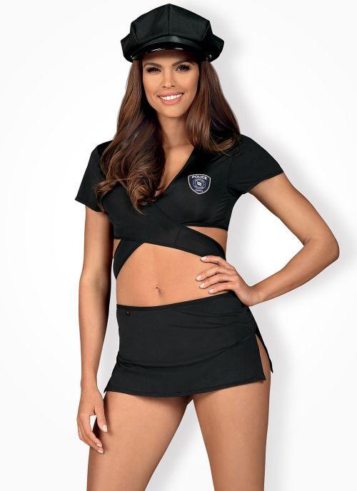 Obsessive kostium policjantki czarny (Police)