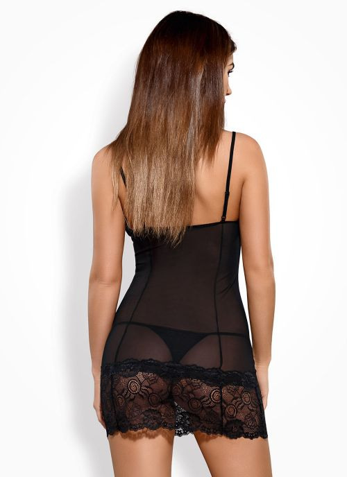 Obsessive koszulka i stringi czarna (Alluria)