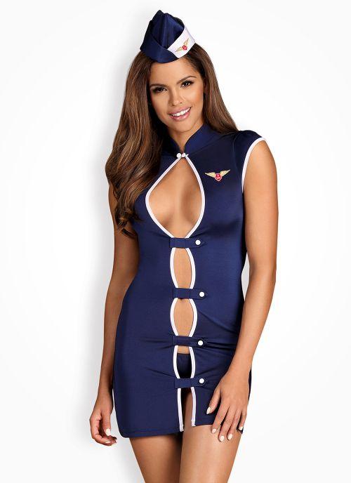 Obsessive kostium stewardessy granatowy (Stewardess)