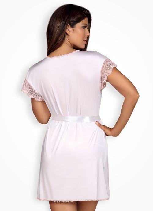 Obsessive szlafrok biało-różowy (Girlly)
