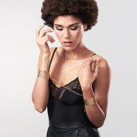 Bijoux Indiscrets Désir Métallique obroża z łańcuszków złota
