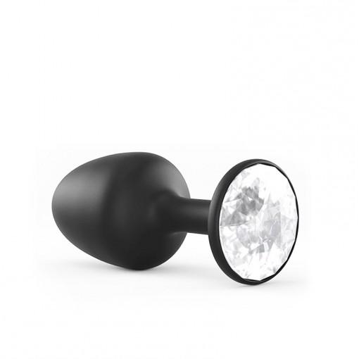 Dorcel Geisha Plug Diamond korek analny z drgającą kulką czarny ze srebrnym kryształkiem