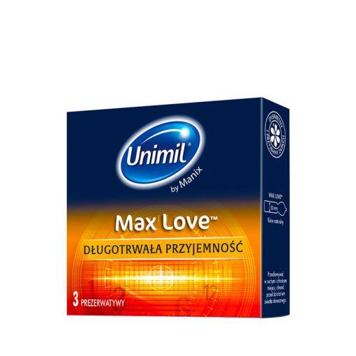 Unimil Max Love prezerwatywy wydłużające stosunek 3 szt.