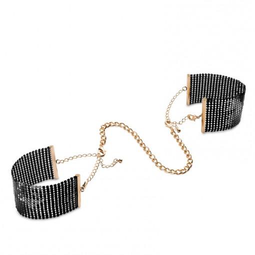 Bijoux Indiscrets Désir Métallique kajdanki z łańcuszków czarno-złote
