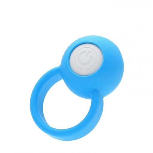 Vi-Bo Ring Ball wibrujący pierścień dla par niebieski