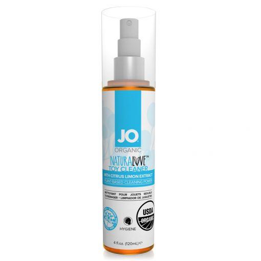 System JO Natural Love organiczny spray do czyszczenia zabawek erotycznych 120 ml