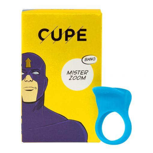 CUPE Mister Zoom wibrujący pierścień dla par niebieski