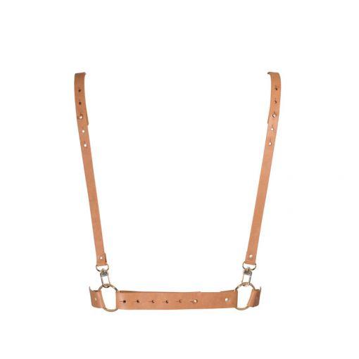 Bijoux Indiscrets Maze uprząż w kształcie litery X brązowa