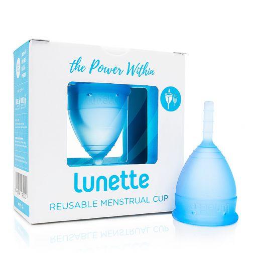 Lunette kubeczek menstruacyjny niebieski rozmiar 1