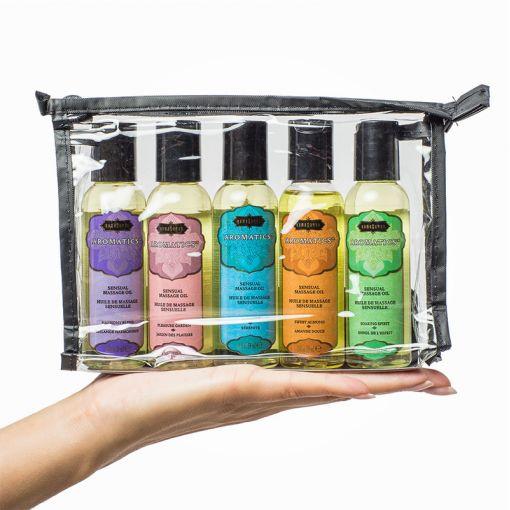 Kama Sutra zestaw podróżnych olejków do masażu 5 x 59 ml