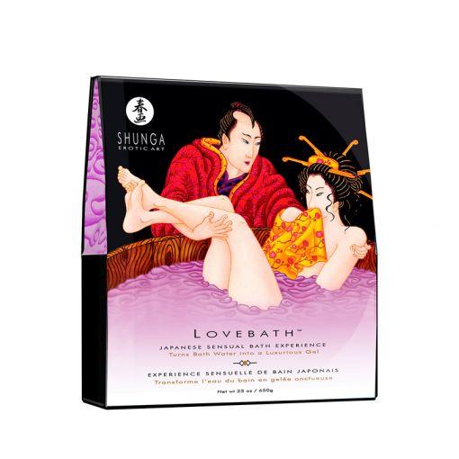 Shunga Lovebath zestaw do żelowej kąpieli fioletowy kwiat lotosu 650 g