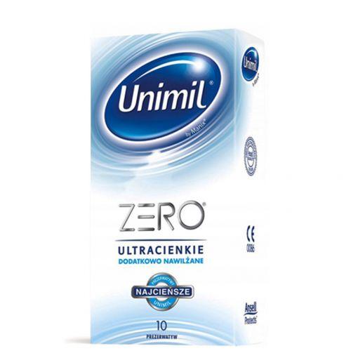 Unimil Zero ultracienkie dodatkowo nawilżane prezerwatywy 10 szt.