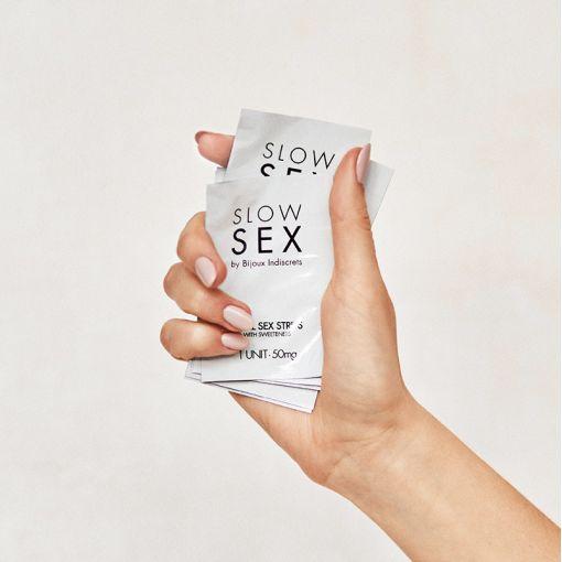 Bijoux Indiscrets Slow Sex miętowe listki do seksu oralnego 7 szt.
