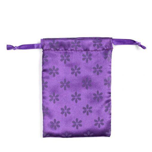 Lunette satynowy woreczek fioletowy