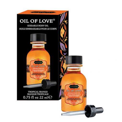 Kama Sutra Oil of Love rozgrzewający olejek do gry wstępnej mango 22 ml
