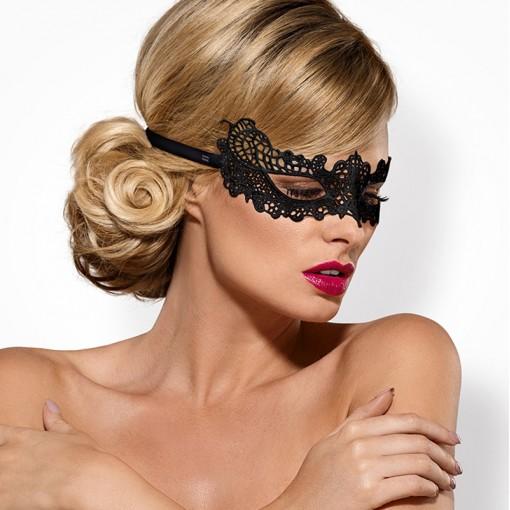 Obsessive koronkowa maska na oczy czarna A701