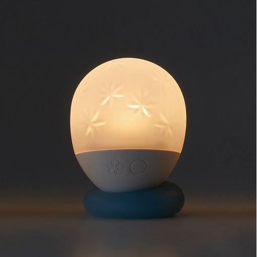 Iroha Ukidama lampka do wanny i masażer kąpielowy Hoshi - biało-błękitny