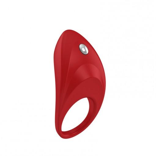 OVO B7 wibrujący pierścień dla par czerwony