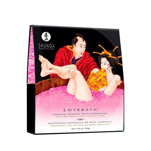 Shunga Lovebath zestaw do żelowej kąpieli różowy smoczy owoc 650 g