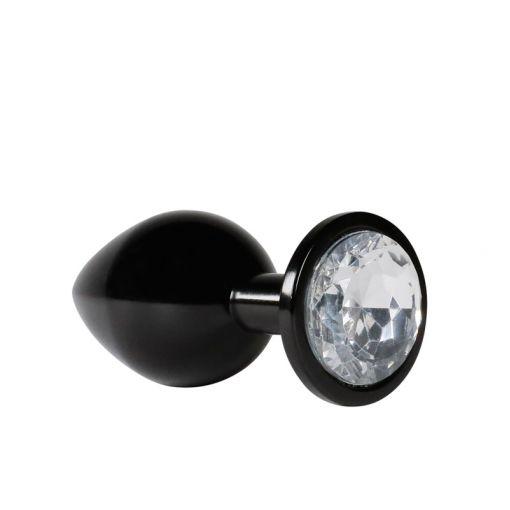 Kink Adorn Me korek analny z kryształkiem czarny