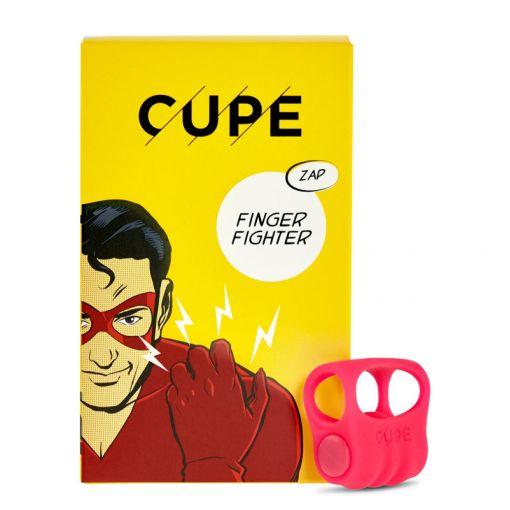 CUPE Finger Fighter masażer łechtaczki zakładany na palec neonowy róż