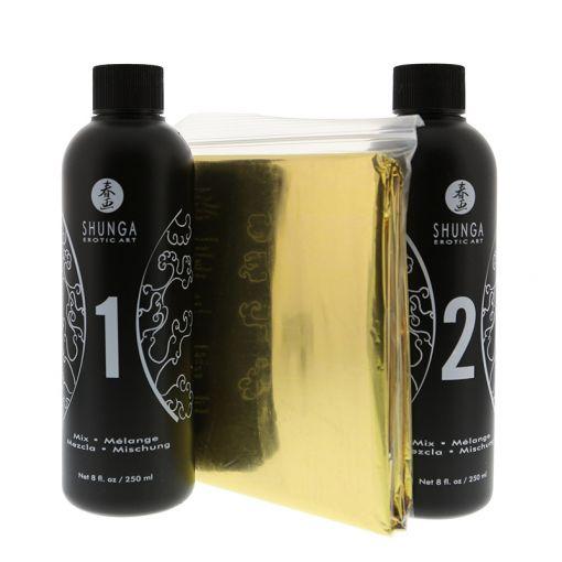 Shunga zestaw do masażu body to body truskawkowy 2 x 250 ml