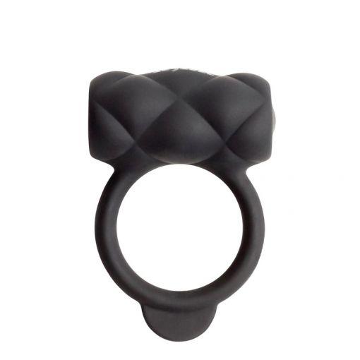 Kink Control Me wibrujący pierścień dla par czarny