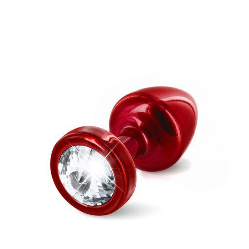 Diogol Anni korek analny z kryształkiem Swarovskiego czerwony 25 mm