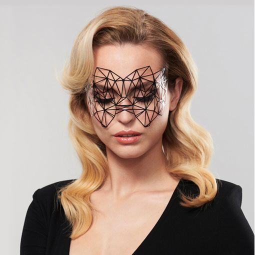 Bijoux Indiscrets ozdobna maska na oczy Kristine - czarna