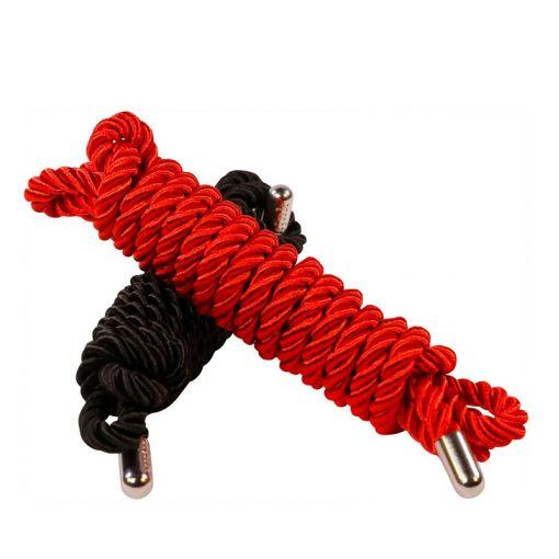 Kink Trap Me liny do krępowania czerwona, czarna 2 szt.