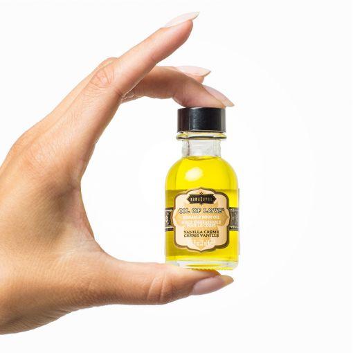 Kama Sutra Oil of Love rozgrzewający olejek do gry wstępnej waniliowy 22 ml