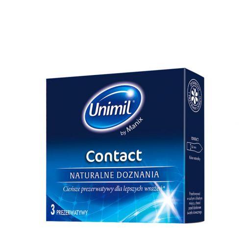 Unimil Contact supercienkie prezerwatywy 3 szt.