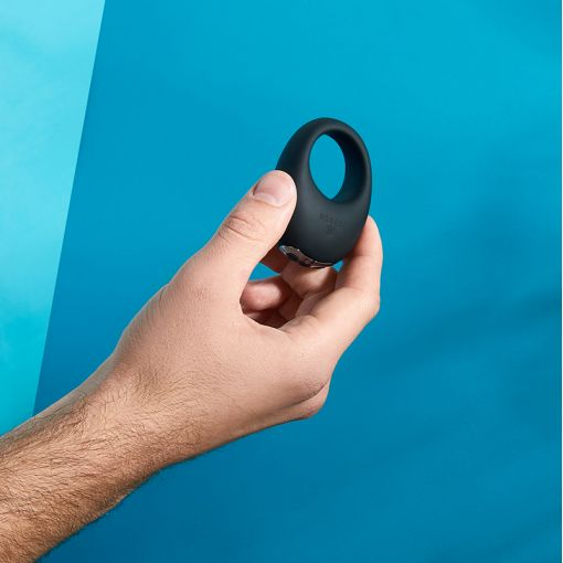 Je Joue Mio wibrujący pierścień dla par czarny