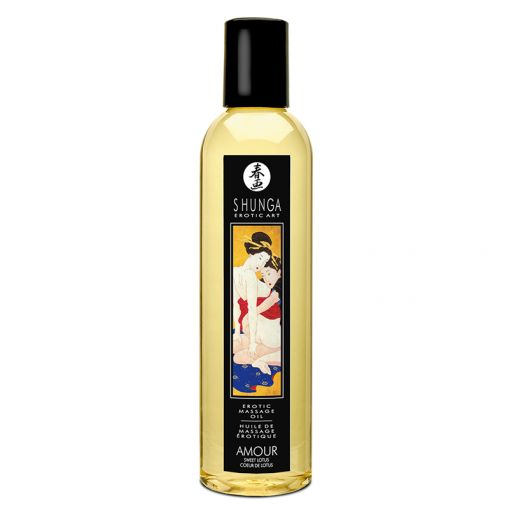 Shunga olejek do masażu Amour słodki kwiat lotosu 250 ml