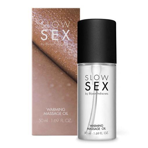 Bijoux Indiscrets Slow Sex rozgrzewający olejek do masażu sprzyjający pocałunkom 50 ml