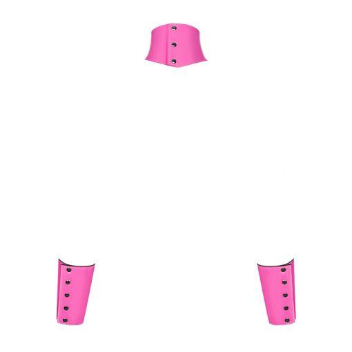 Obsessive Lollypopy choker z kajdankami różowy