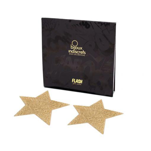 Bijoux Indiscrets Flash nasutniki gwiazdki złote