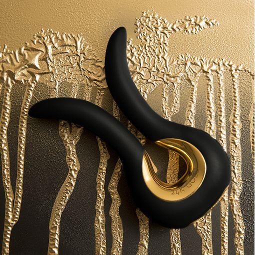 Fun Toys Gvibe MINI Gold masażer wielofunkcyjny czarny z 24-karatowym złotem