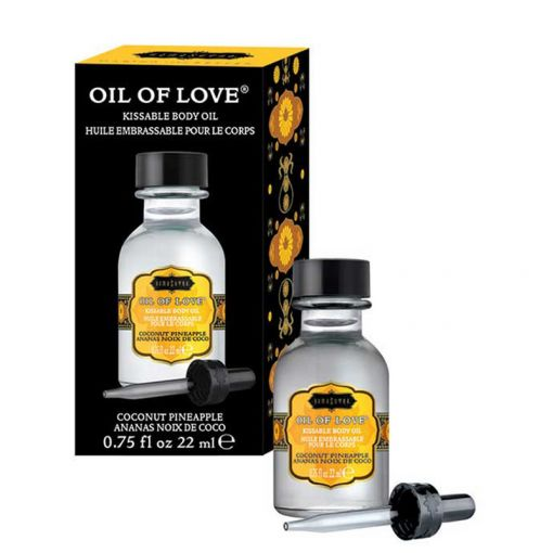 Kama Sutra Oil of Love rozgrzewający olejek do gry wstępnej kokosowo-ananasowy 22 ml