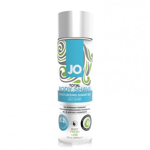 System JO Total Body Shave łagodzący żel do golenia miejsc intymnych limonkowy 240 ml