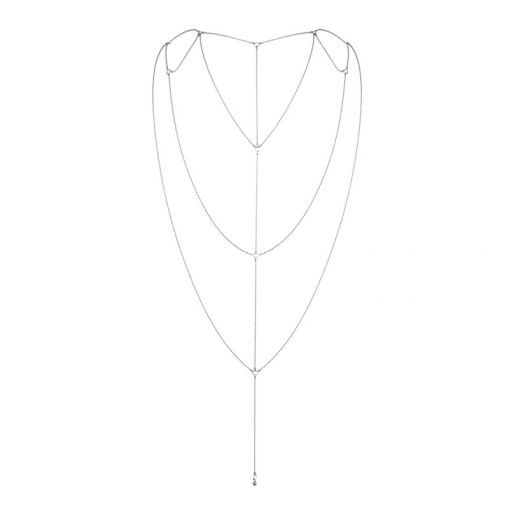 Bijoux Indiscrets Magnifique łańcuszek na plecy srebrny
