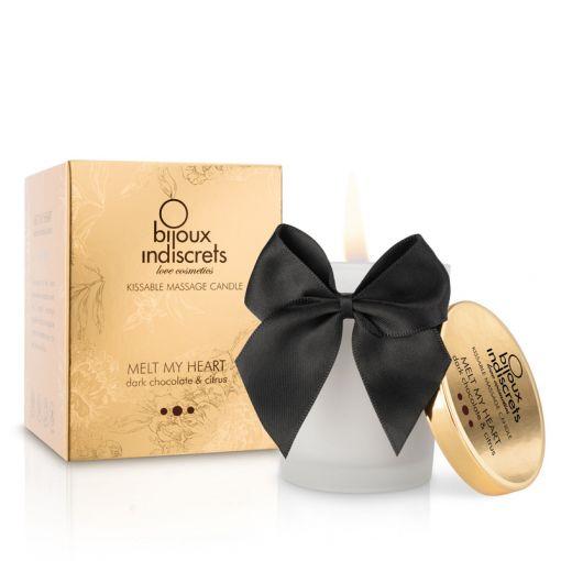 Bijoux Indiscrets Melt My Heart świeca do masażu czekolada i cytrusy 70 g