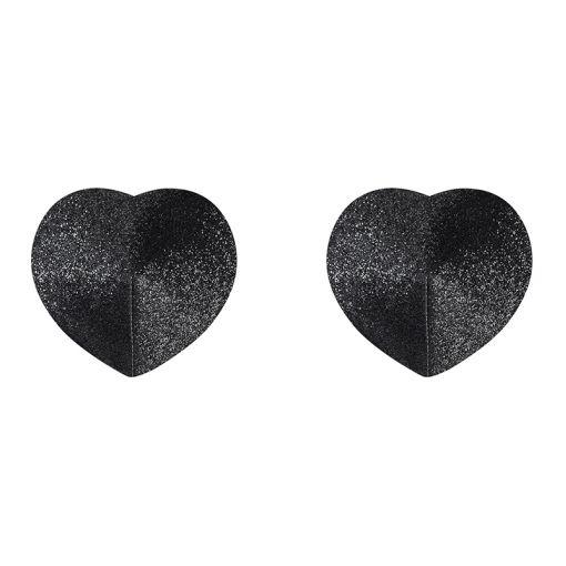 Obsessive A751 nasutniki serduszka z brokatem czarne