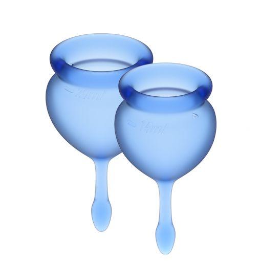 Satisfyer Feel Good zestaw kubeczków menstruacyjnych niebieski - 15, 20 ml